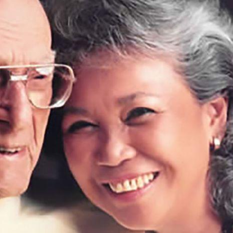 George and Joy Abbott smiling
