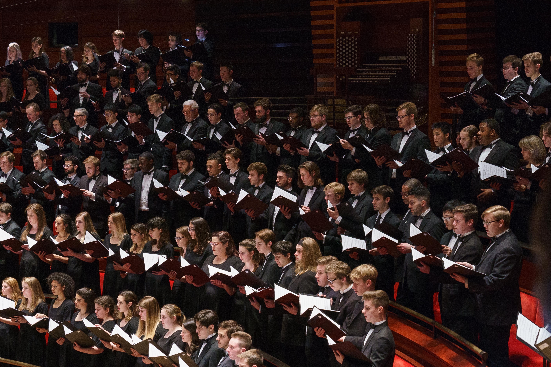 Temple university choirs singing