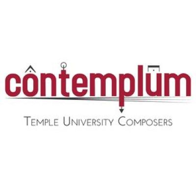 contemplum logo; red text on white background