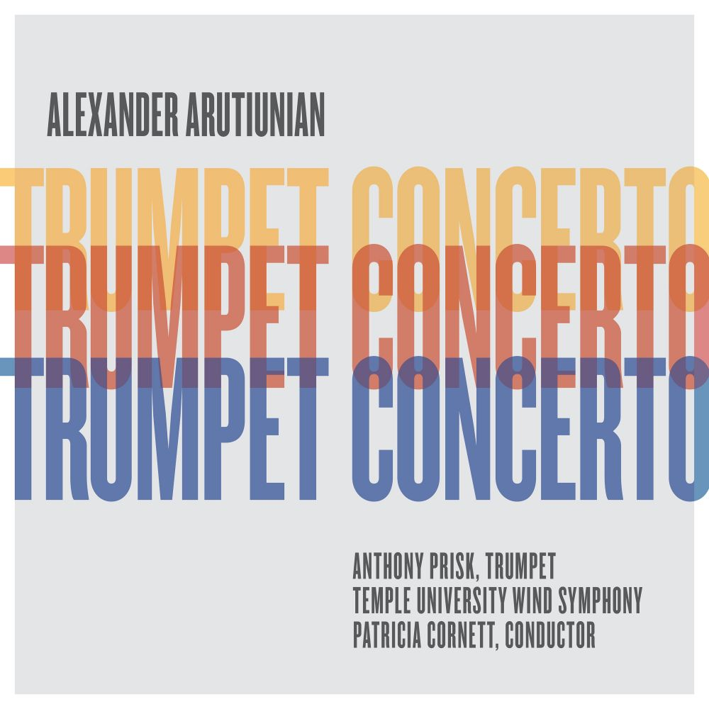 Cover art for Arutiunian Trumpet Concerto featuring Anthony Prisk