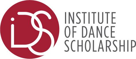 """Logo with the letters """"IDS"""" inside a circle and """"Institute of Dance Scholarship"""" written on the right."""